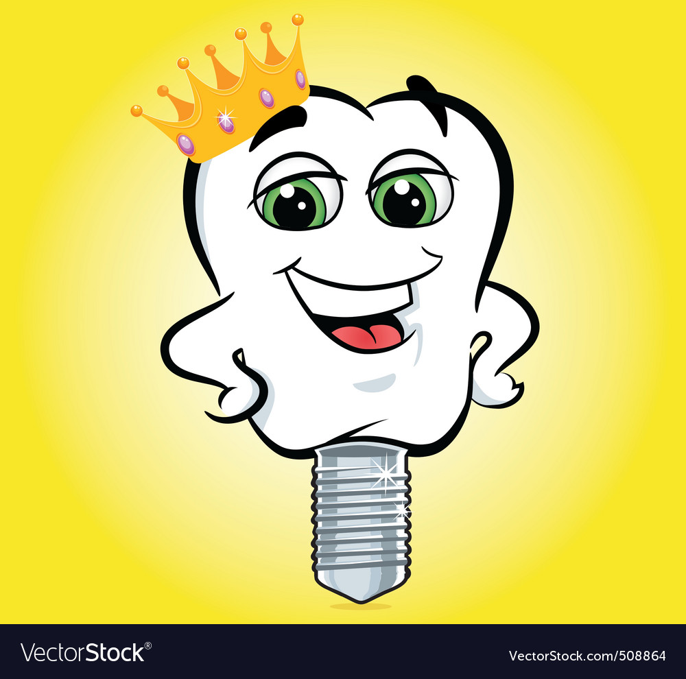 Tooth implant crown vector | Price: 1 Credit (USD $1)
