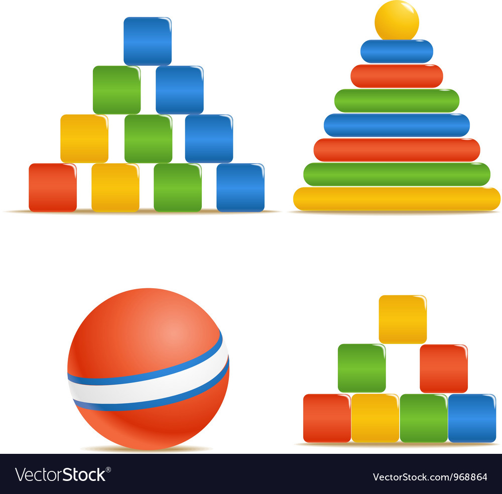 Wood color toys vector | Price: 1 Credit (USD $1)
