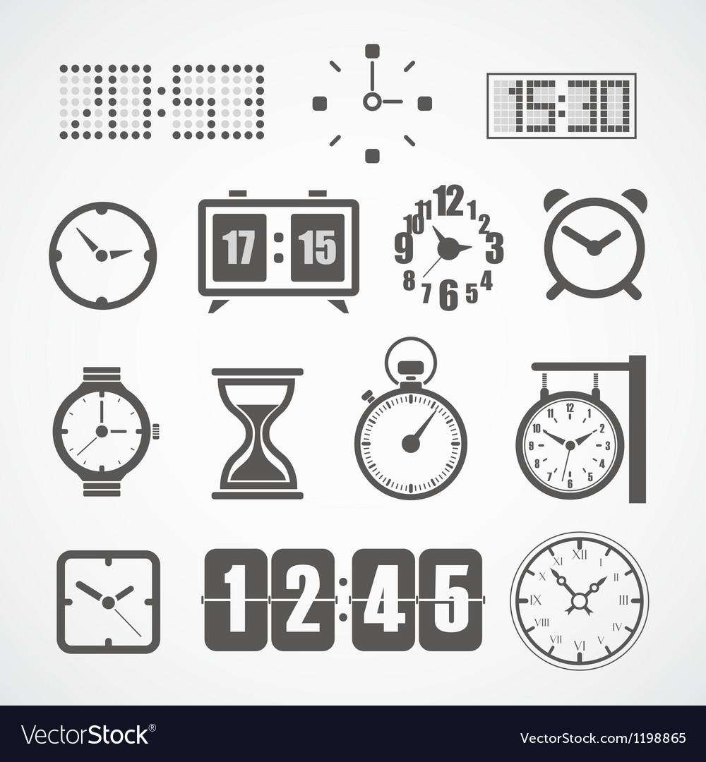 Different slyles of clock collection vector | Price: 1 Credit (USD $1)