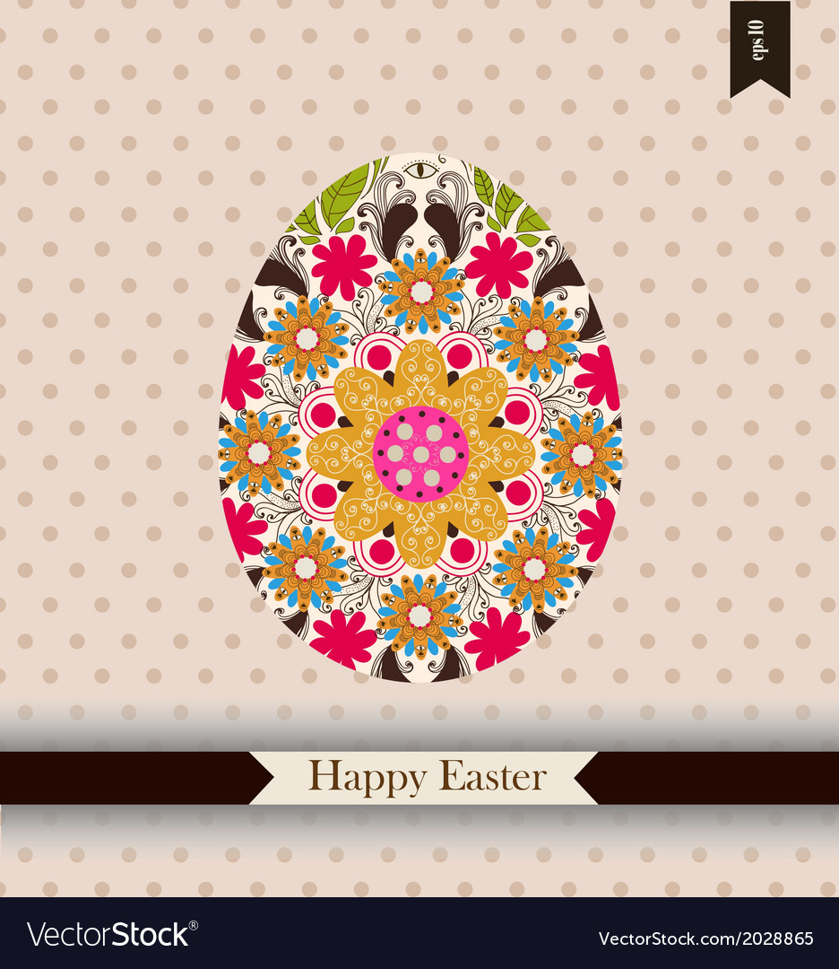 Easter greeting card with place for your text vector   Price: 1 Credit (USD $1)
