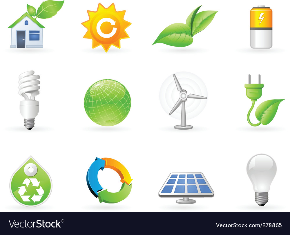 Ecology and green energy icon vector | Price: 3 Credit (USD $3)