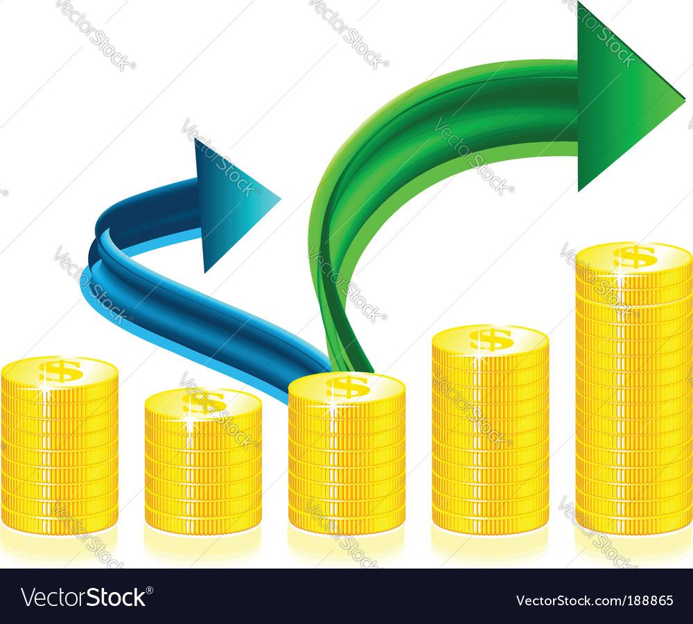 Financial success concept vector | Price: 1 Credit (USD $1)