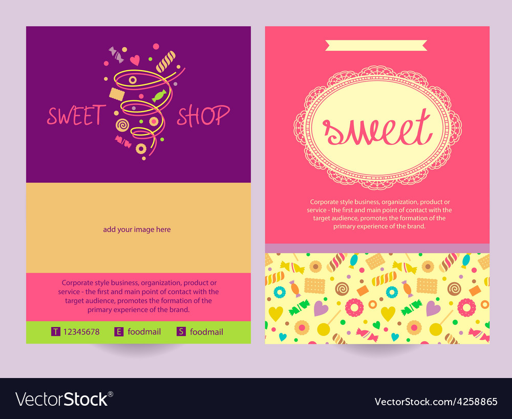 Flyer sweets background ad logo vector | Price: 1 Credit (USD $1)