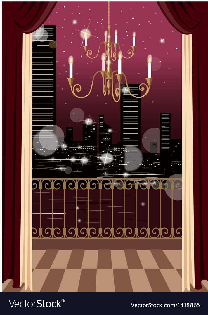 Glamorous apartment cityscape vector | Price: 1 Credit (USD $1)