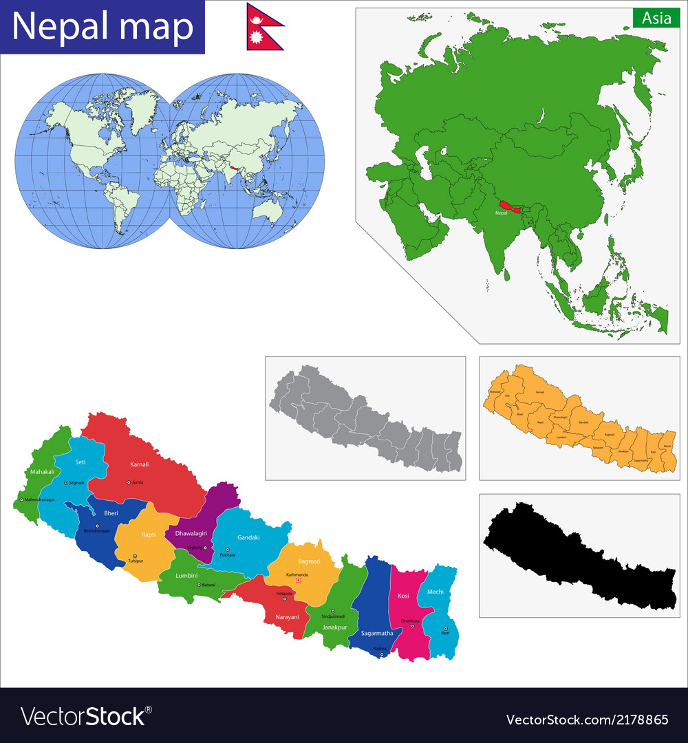 Republic of nepal vector | Price: 1 Credit (USD $1)