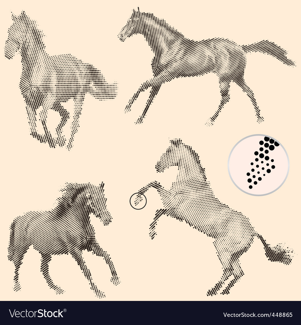 Running horses vector | Price: 1 Credit (USD $1)