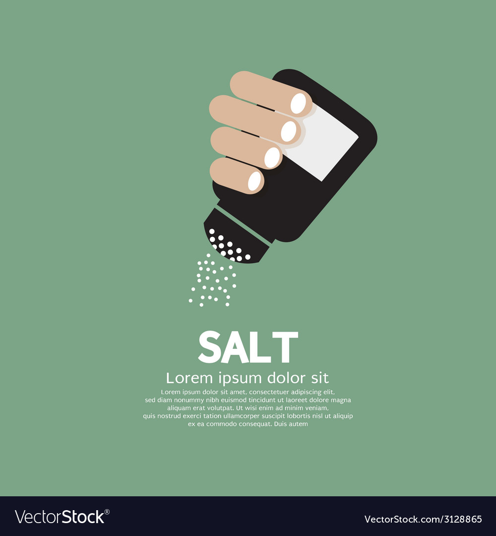 Salt bottle in hand vector | Price: 1 Credit (USD $1)