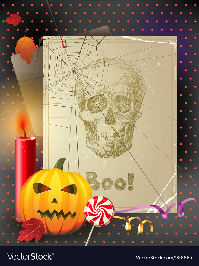 Vintage halloween vector | Price: 3 Credit (USD $3)