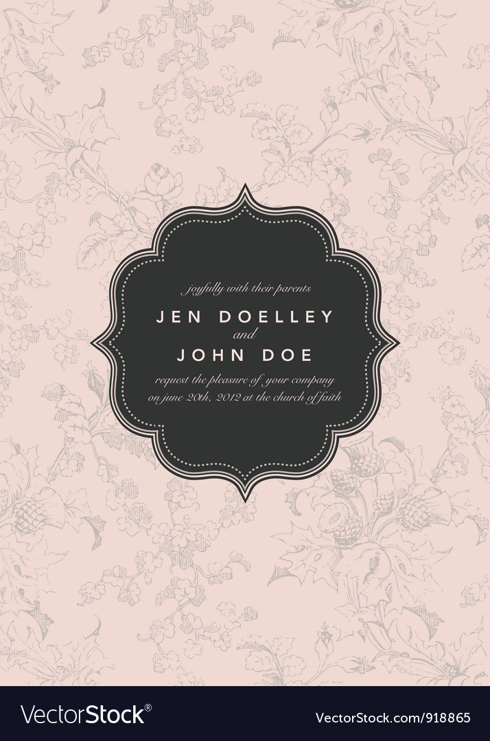 Wedding invite vector | Price: 1 Credit (USD $1)