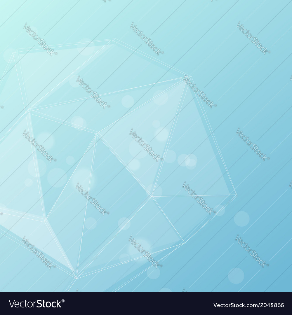 Blue crystal structure editable background vector | Price: 1 Credit (USD $1)