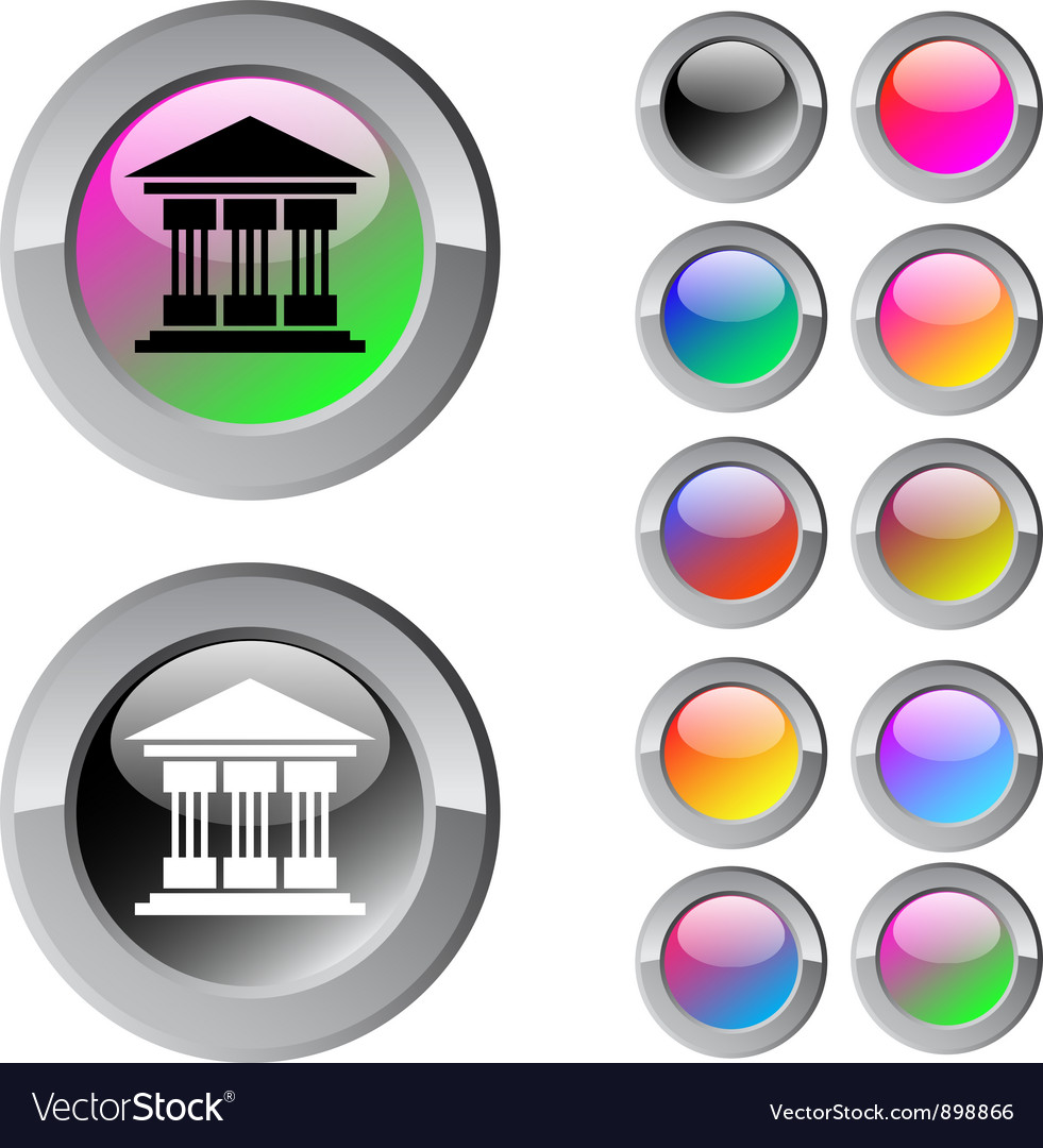 Exchange multicolor round button vector | Price: 1 Credit (USD $1)