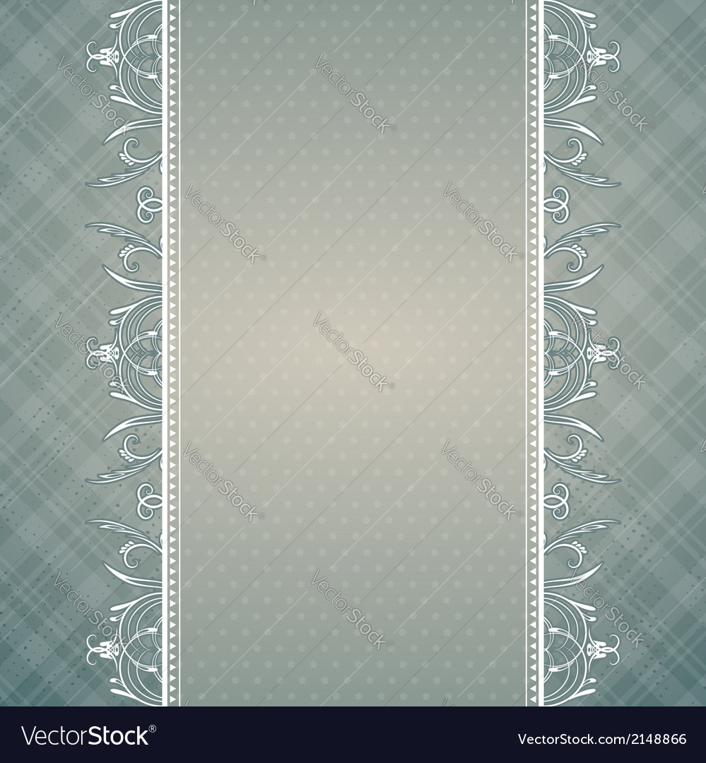 Grey background with decorative ornaments vector | Price: 1 Credit (USD $1)