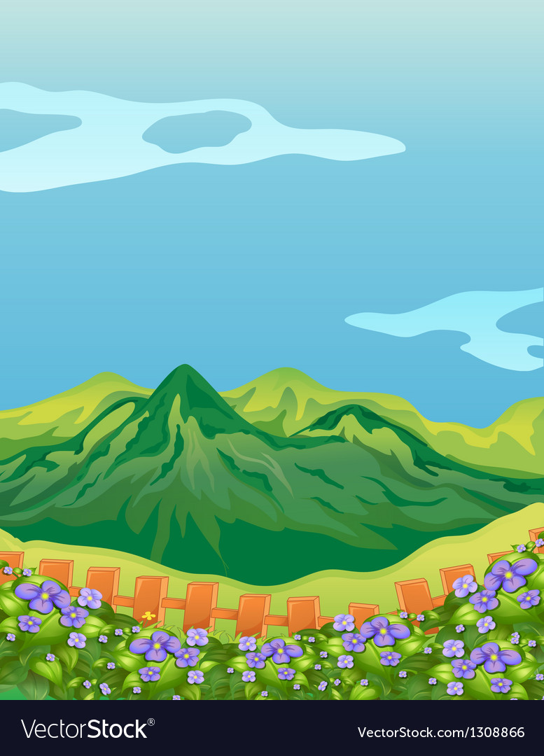 The high mountains vector | Price: 1 Credit (USD $1)