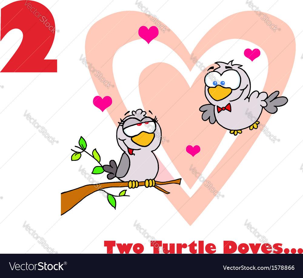 Love birds cartoon vector