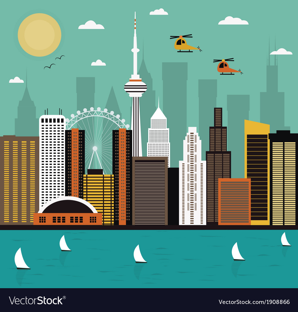 Modern city life vector | Price: 1 Credit (USD $1)