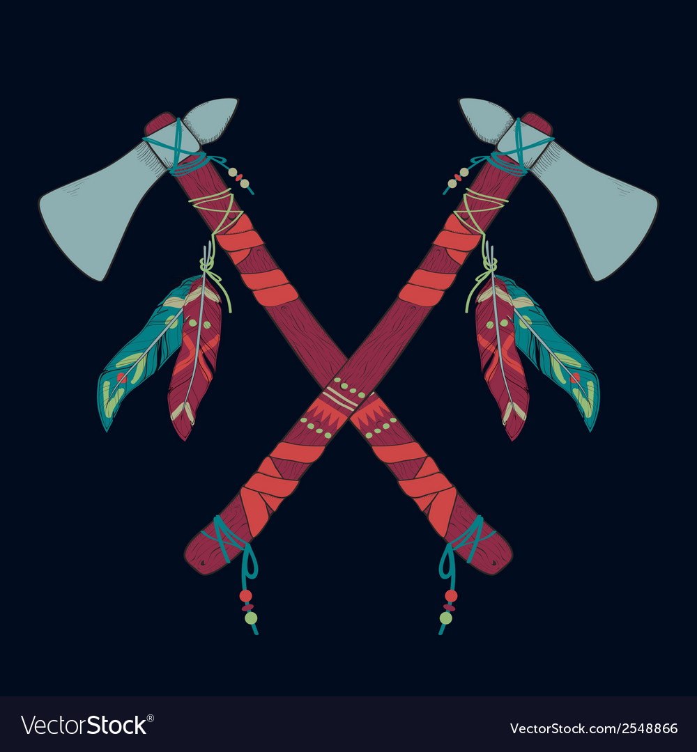 Native american indian tomahawks vector | Price: 1 Credit (USD $1)
