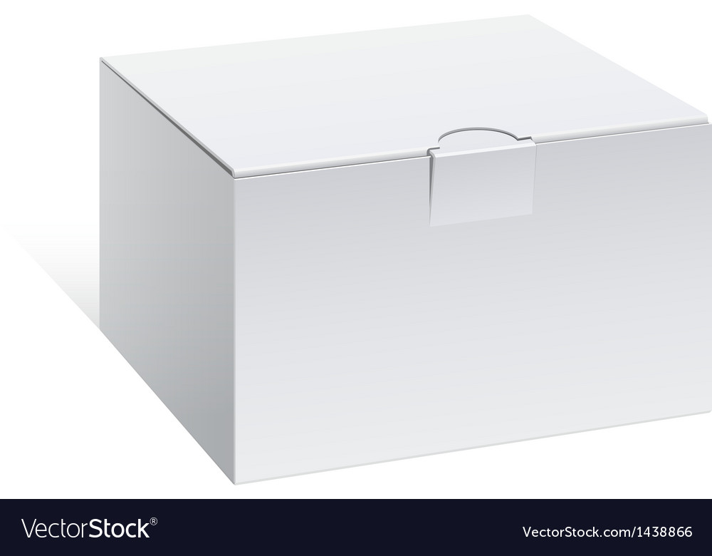 Realistic white package box for electronic device vector | Price: 1 Credit (USD $1)