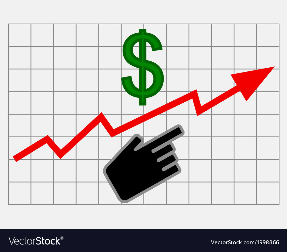 Rise equity price of dollar vector | Price: 1 Credit (USD $1)