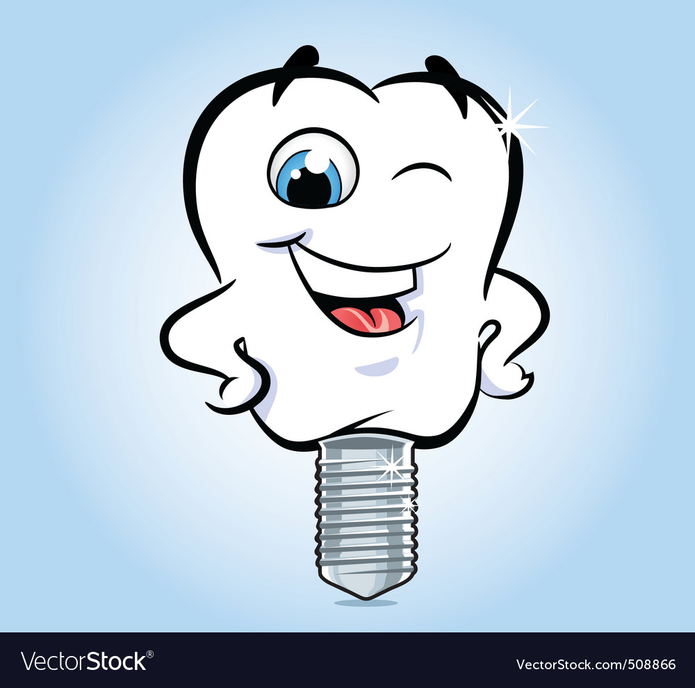 Tooth implant vector | Price: 1 Credit (USD $1)