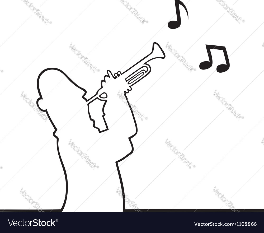 Trumpet player vector | Price: 1 Credit (USD $1)