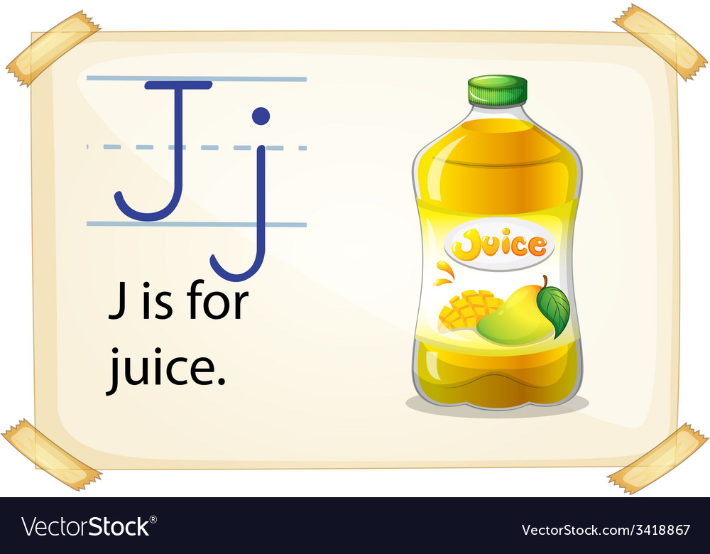 A letter j for juice vector | Price: 1 Credit (USD $1)