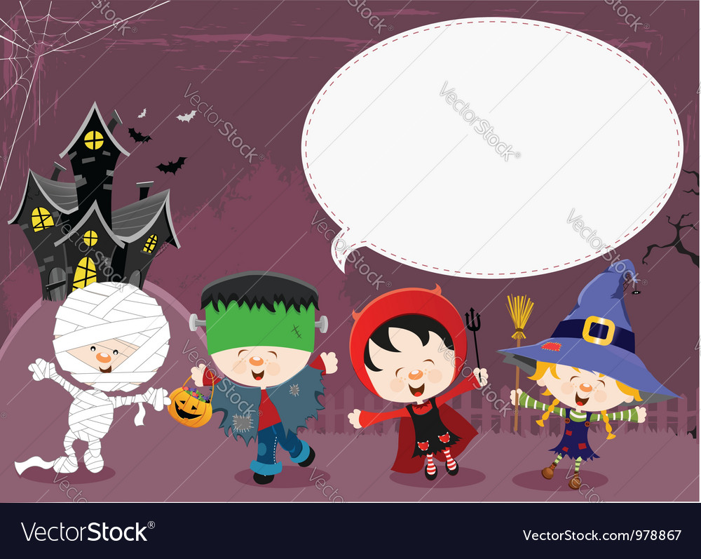 Halloween message vector | Price: 3 Credit (USD $3)