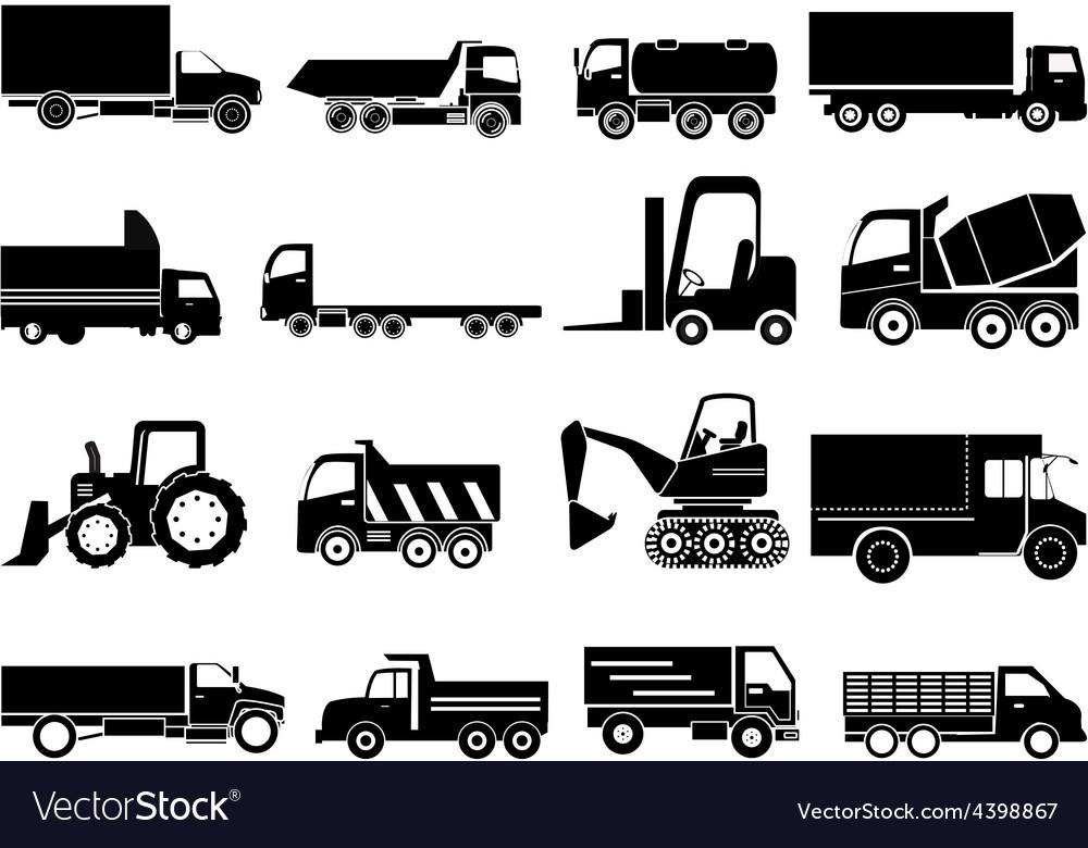 Heavy vehicles icons set vector   Price: 3 Credit (USD $3)