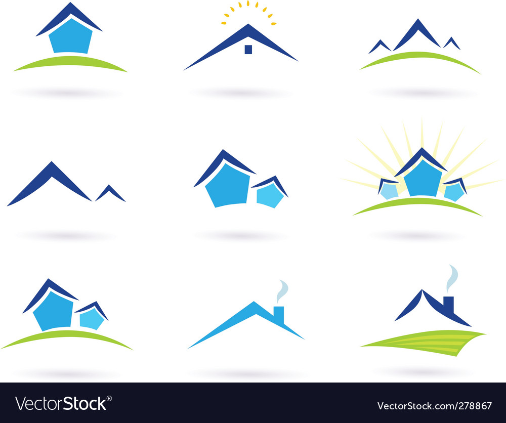 Real estate logo and icons vector | Price: 1 Credit (USD $1)