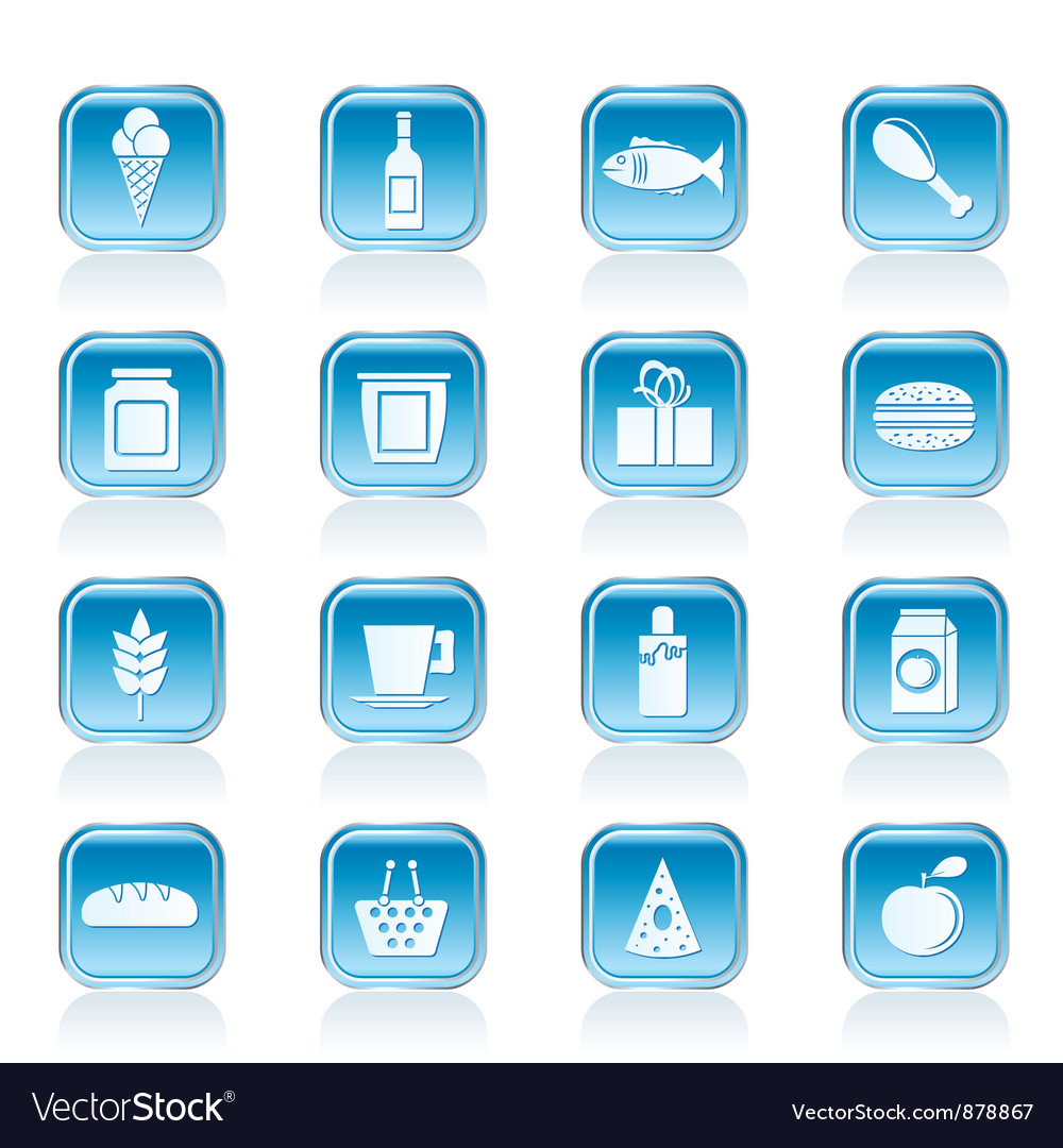 Shop and food icons vector | Price: 1 Credit (USD $1)