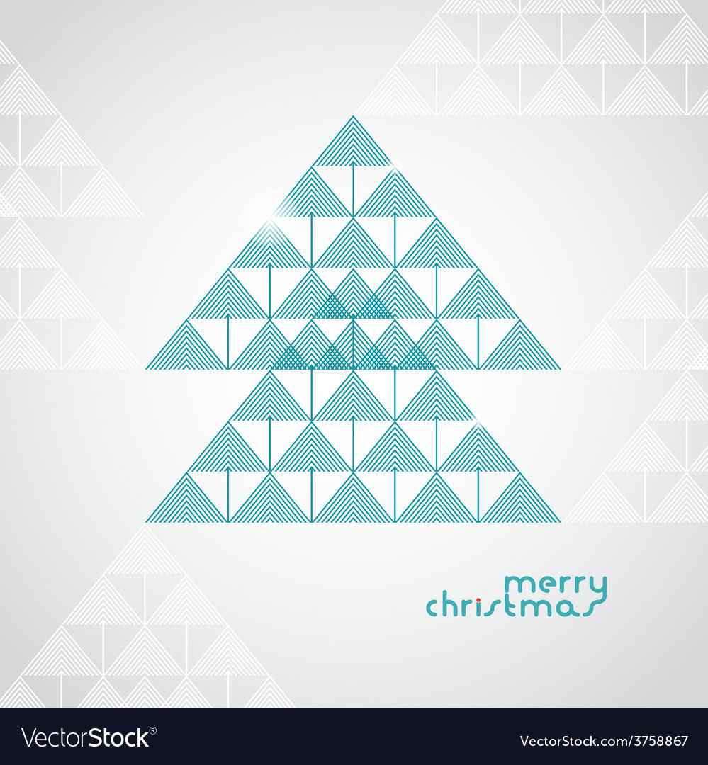 Stylized geometrical christmas tree from arrows vector | Price: 1 Credit (USD $1)