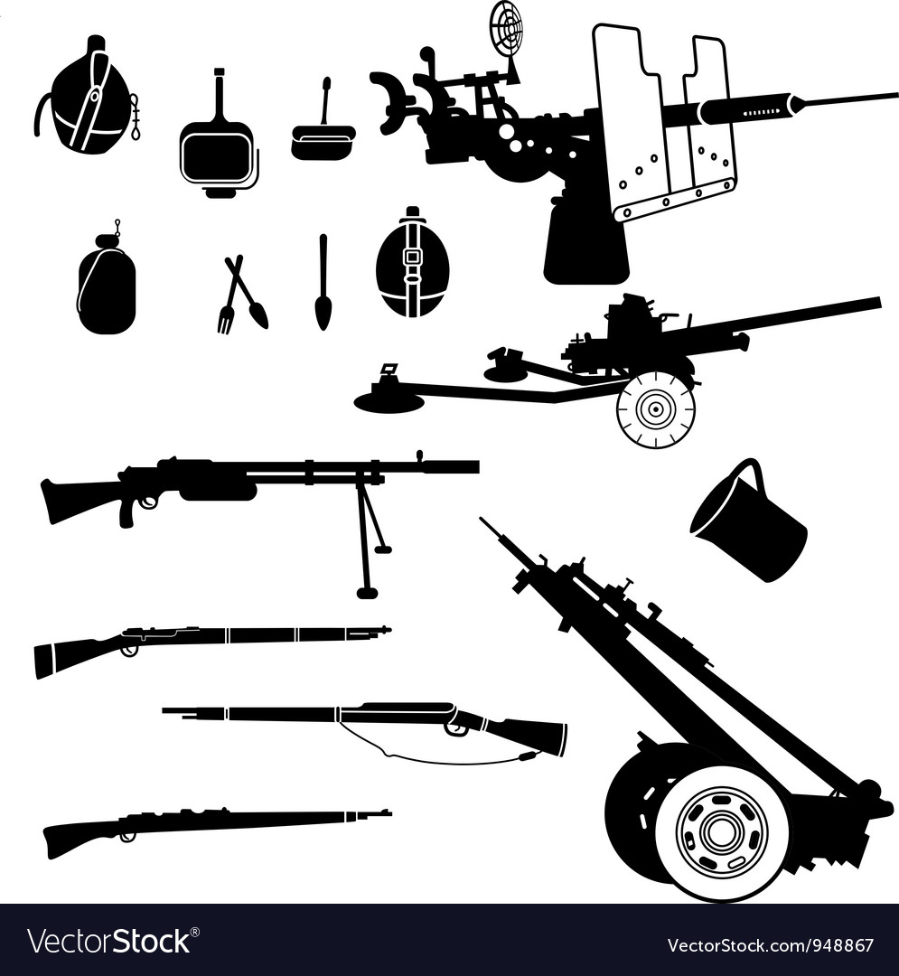 Weapon and artillery vector | Price: 1 Credit (USD $1)