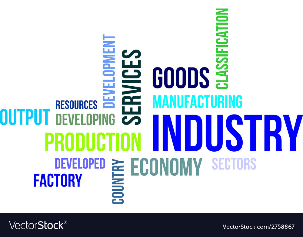 Word cloud industry vector | Price: 1 Credit (USD $1)