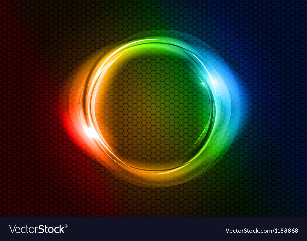 Abstract round on black rainbow vector | Price: 1 Credit (USD $1)