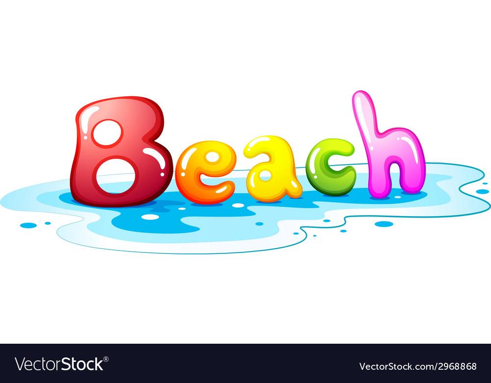 Beach artwork vector | Price: 1 Credit (USD $1)