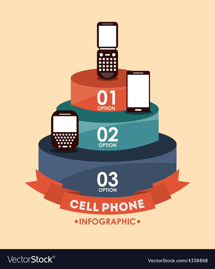 Cell phone vector | Price: 1 Credit (USD $1)