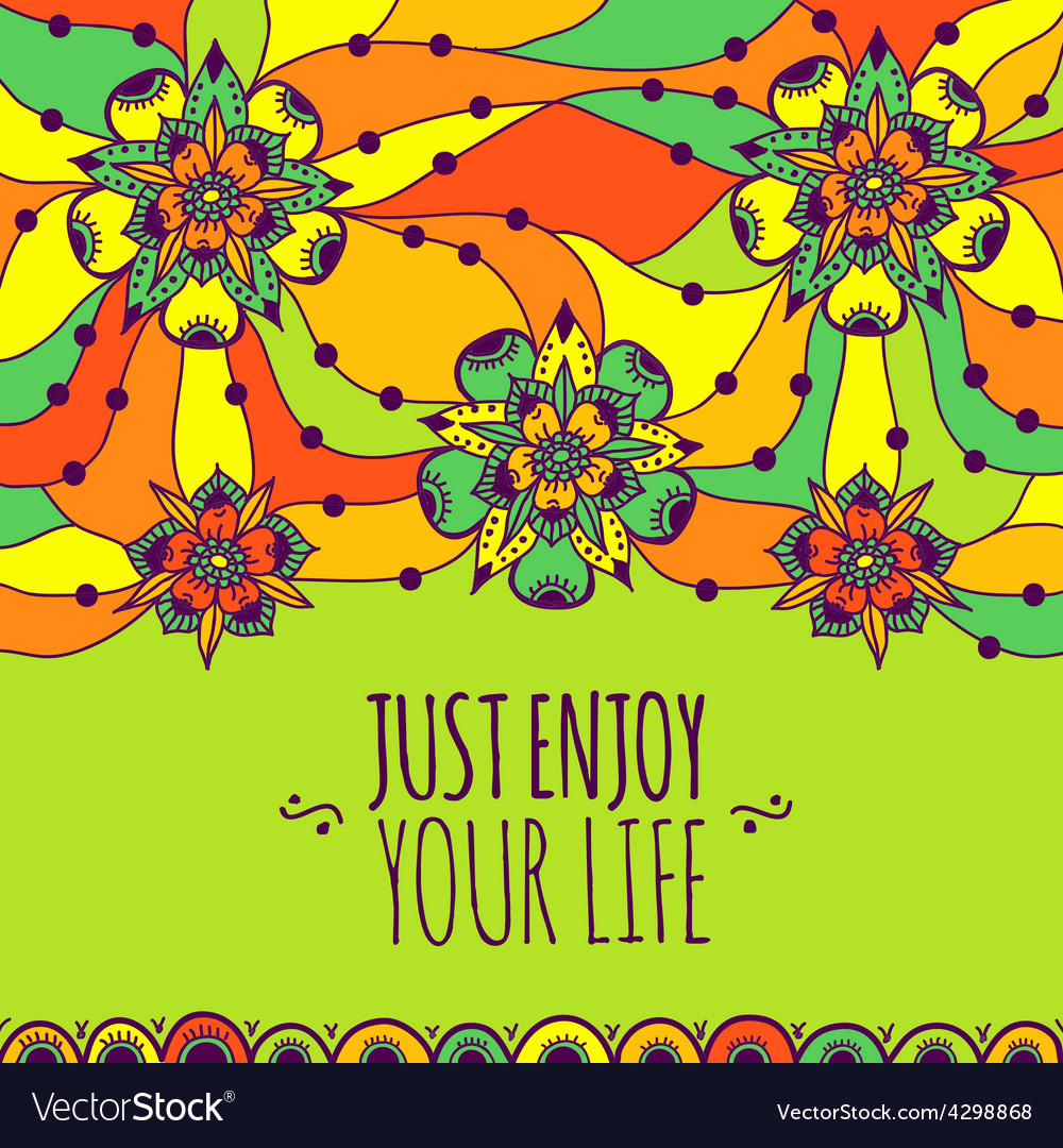 Colorful banner just enjoy your life vector   Price: 1 Credit (USD $1)