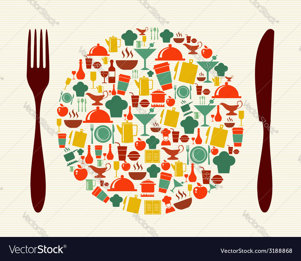 Food and restaurant concept vector | Price: 1 Credit (USD $1)