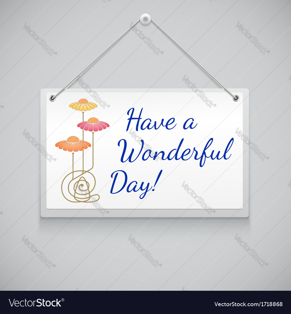 Hanging note board vector | Price: 1 Credit (USD $1)