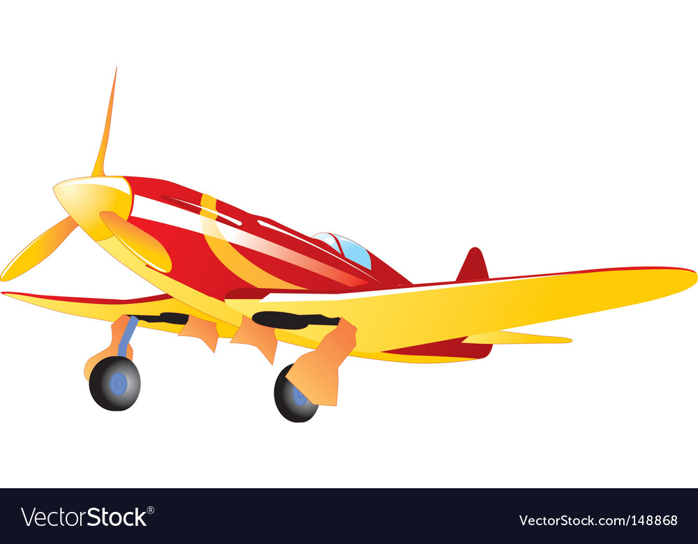 Vintage fighter vector | Price: 1 Credit (USD $1)