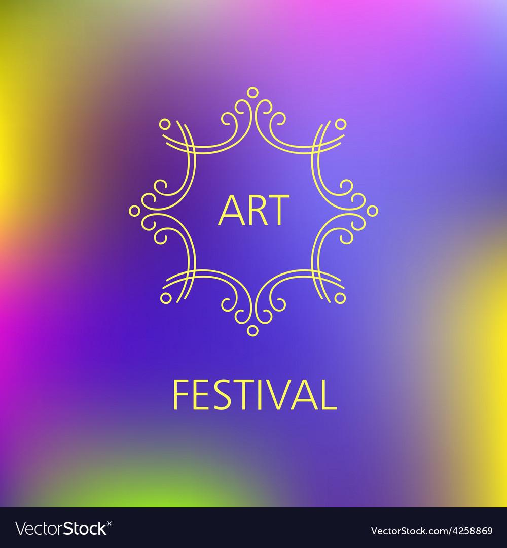 Art festival logo vector | Price: 1 Credit (USD $1)