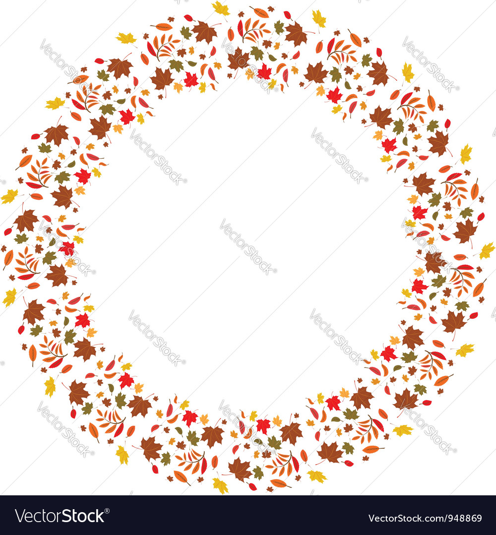 Autumnal frame vector | Price: 1 Credit (USD $1)