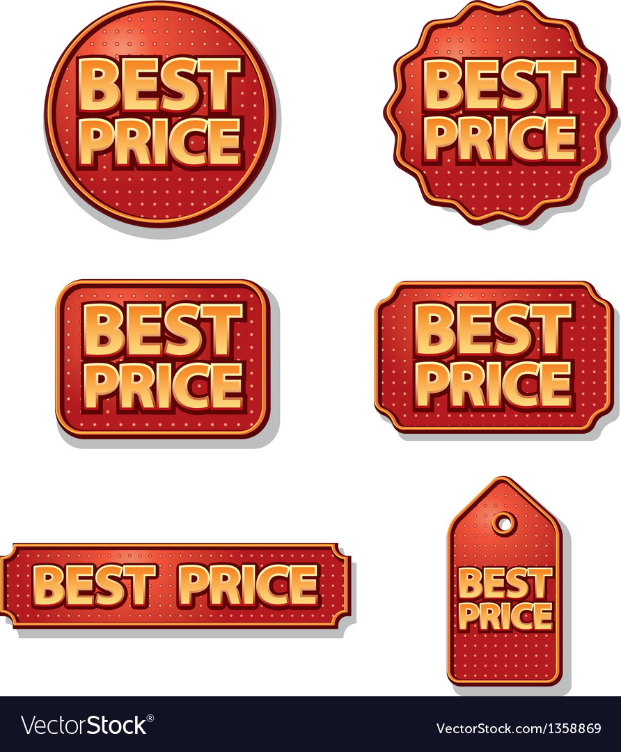 Best price labels vector | Price: 1 Credit (USD $1)