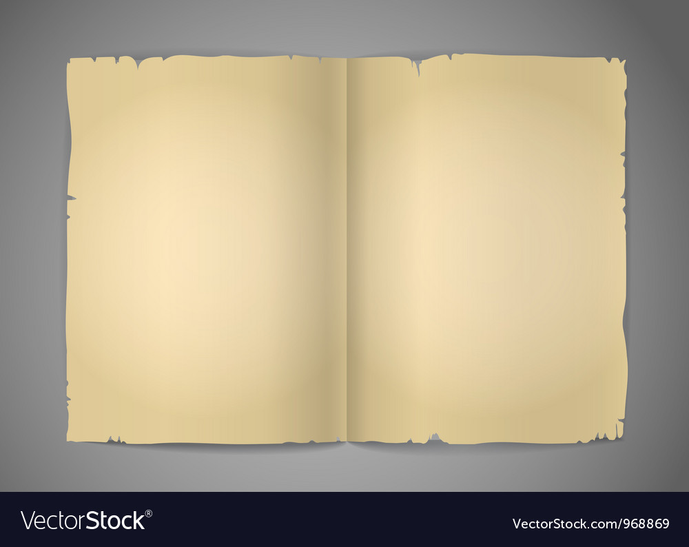 Blank cracked book pages vector | Price: 1 Credit (USD $1)