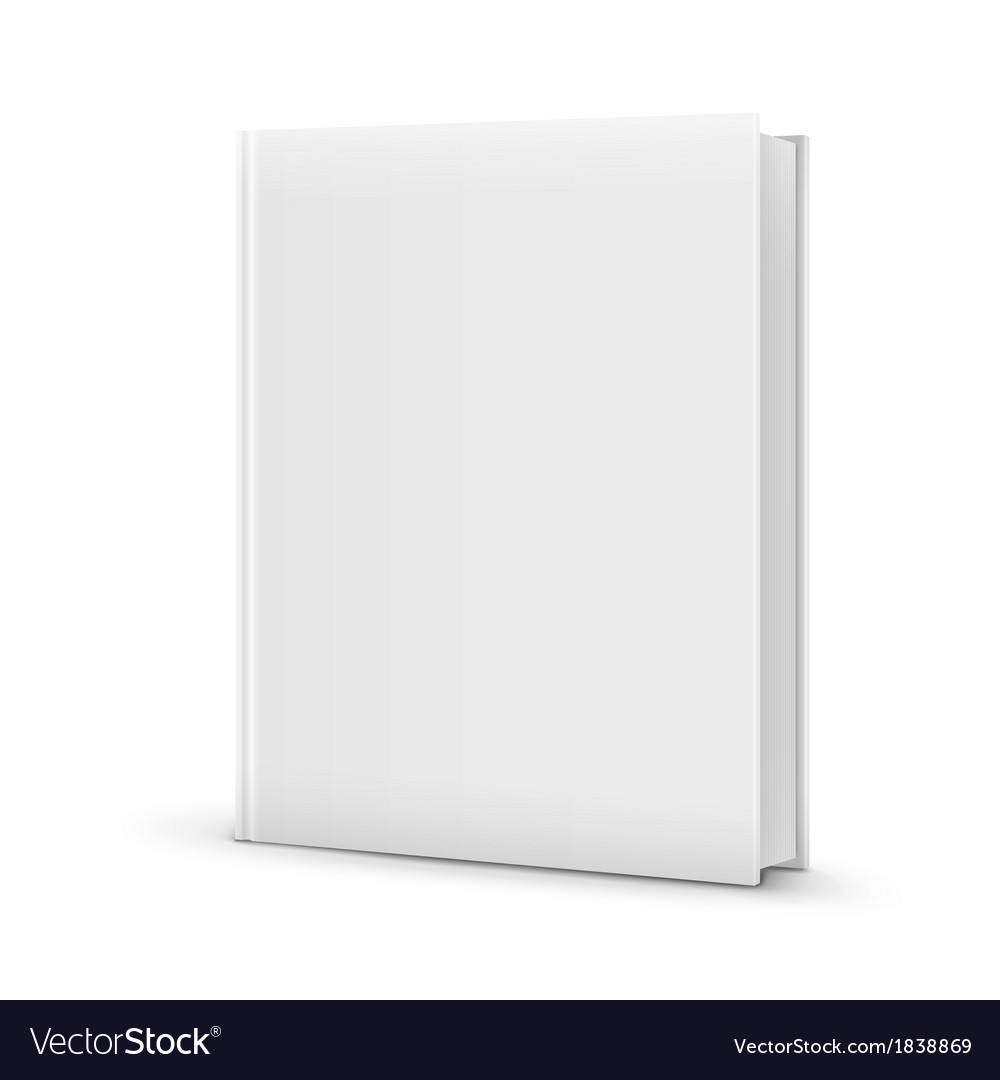 Blank white standing book template vector | Price: 1 Credit (USD $1)