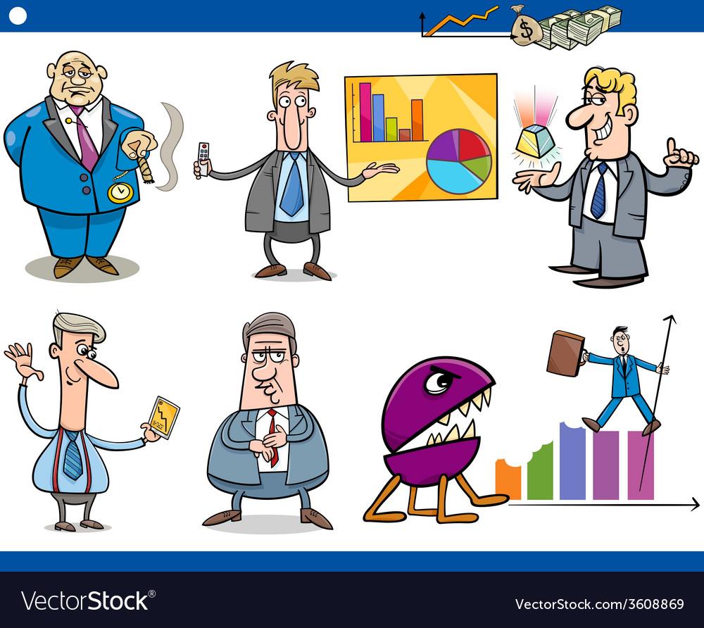 Businessmen cartoon concepts set vector | Price: 1 Credit (USD $1)