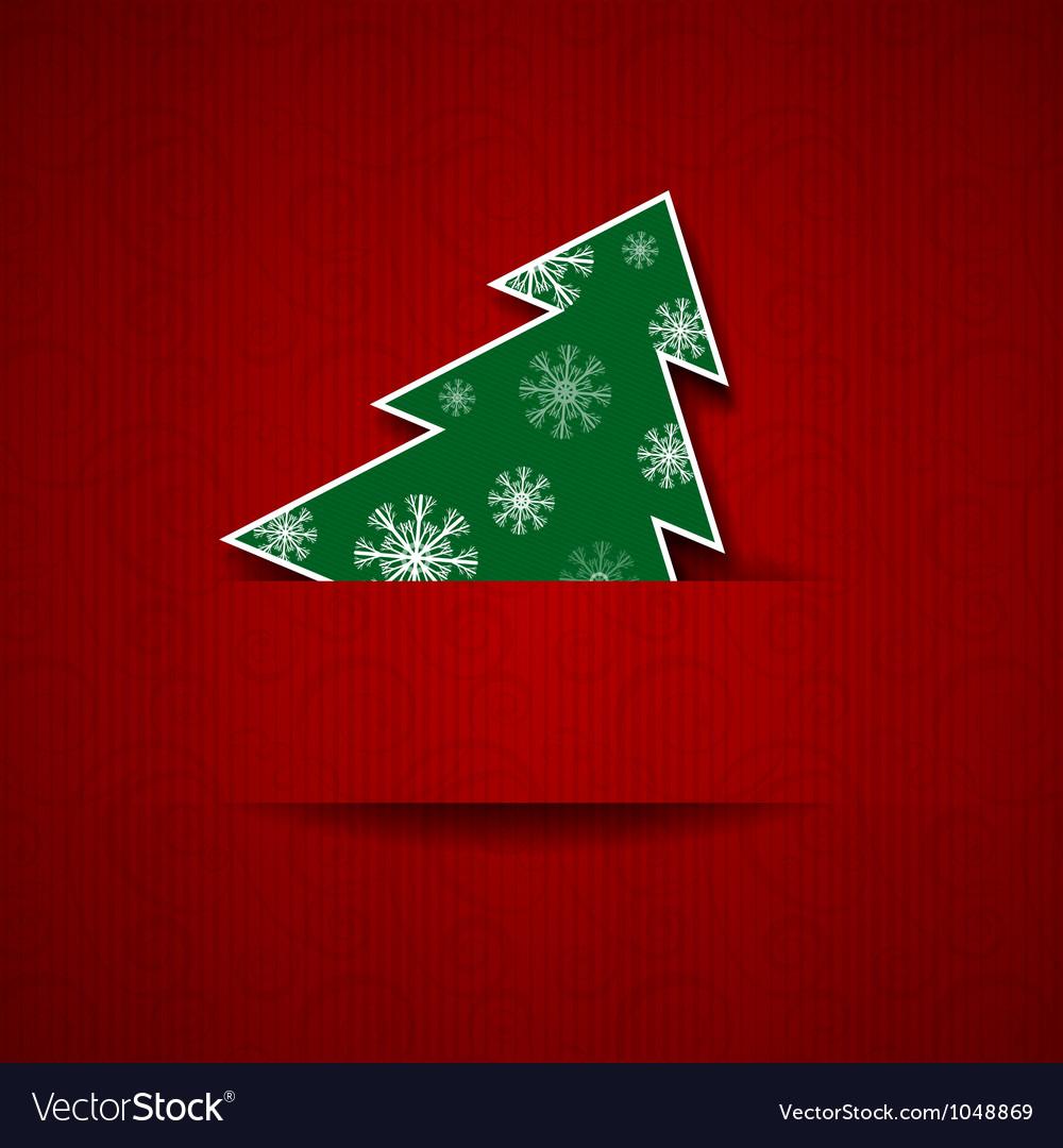Christmas tree postcard vector | Price: 1 Credit (USD $1)