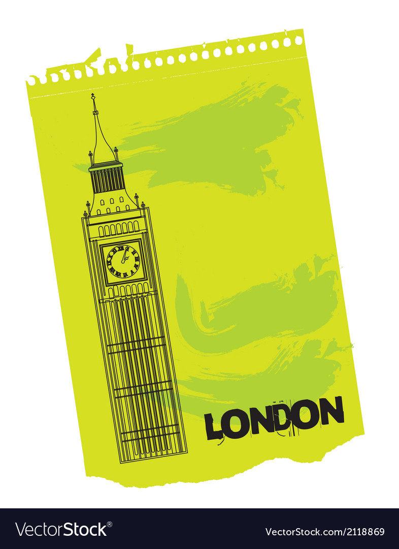 Clock tower of london vector | Price: 1 Credit (USD $1)