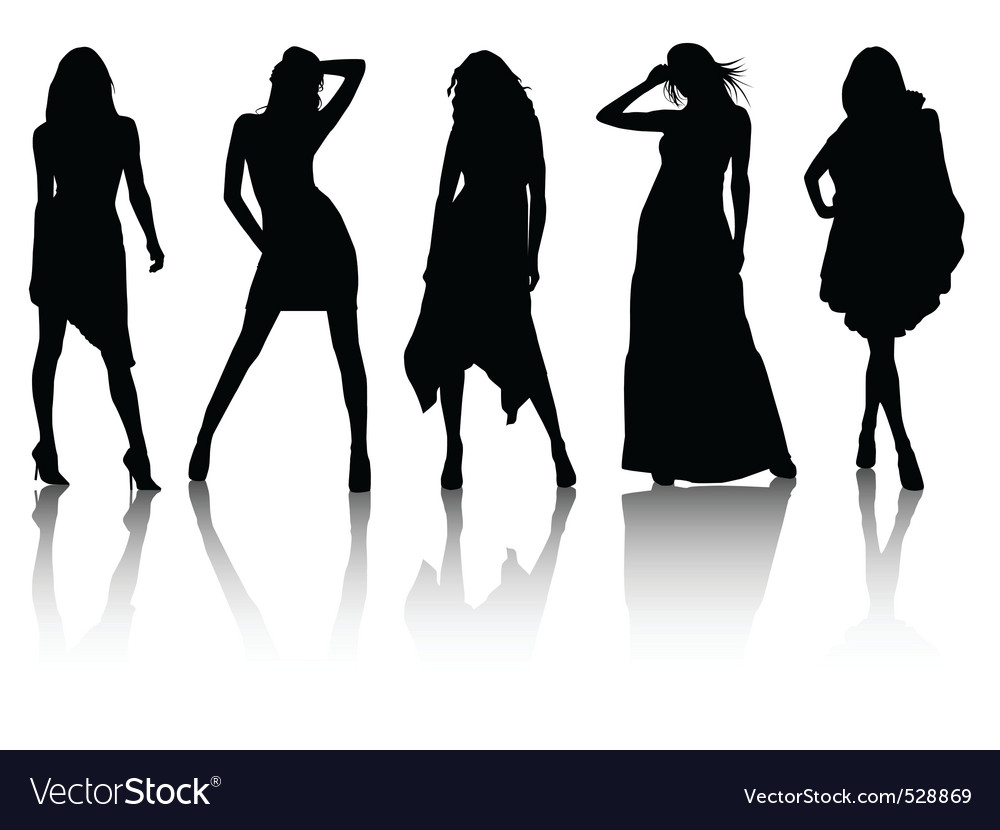 Fashion silhouettes vector | Price: 1 Credit (USD $1)