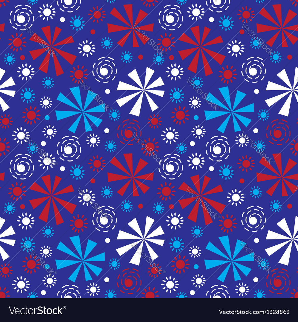 Fireworks on independence day vector | Price: 1 Credit (USD $1)