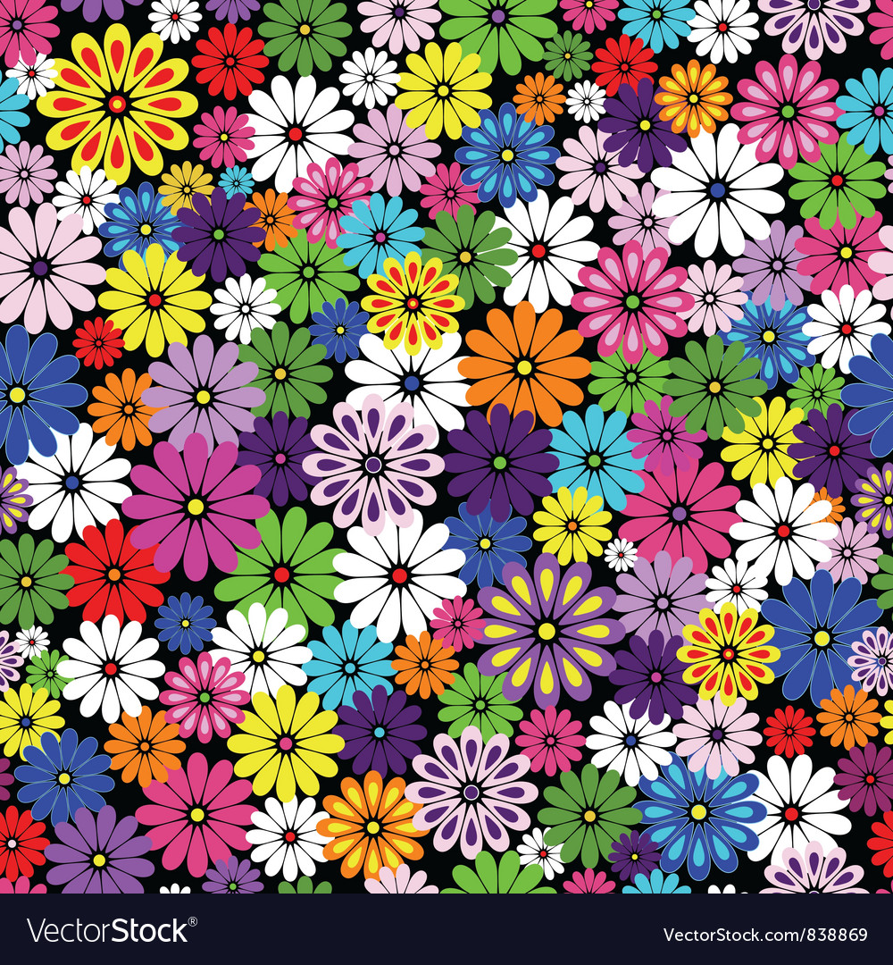 Floral patten vivid vector | Price: 1 Credit (USD $1)